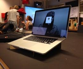 Lasercut Macbook Retina 15 inch Stand