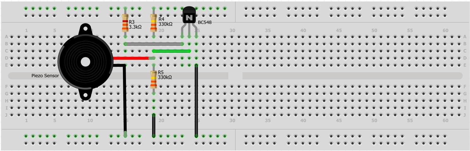 Picture of Piezo Sensor Connections
