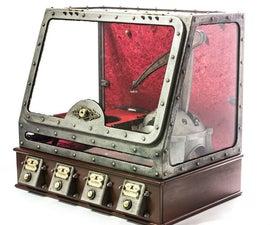 iPad typing steampunk robot - ROBOLED