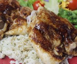 Kickin' Chicken Thighs and Basmati Rice