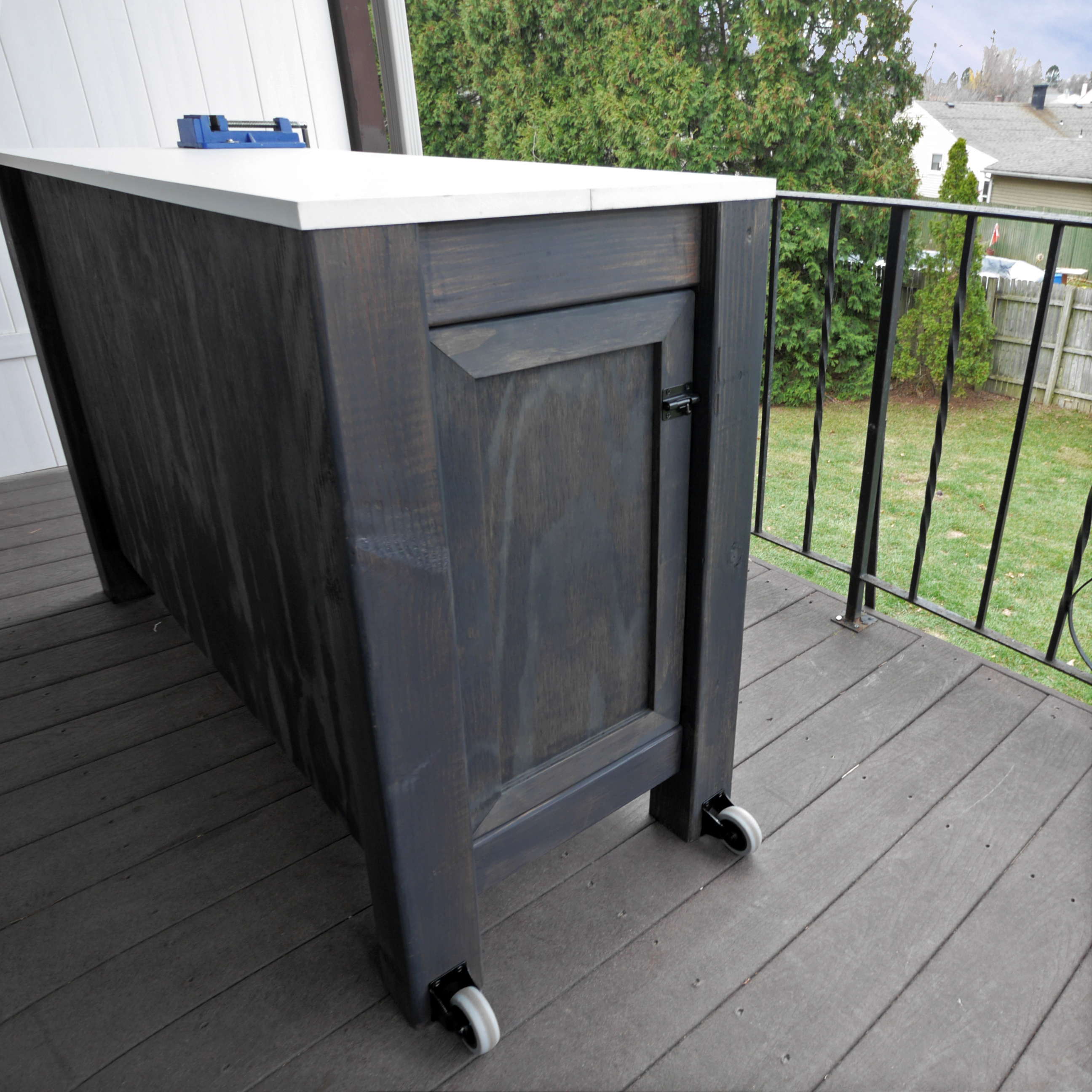 Picture of Outdoor Workbench With Internal Wood Storage