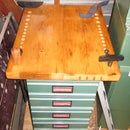 Building a Wood Lathe Work Bench with drawers using recycled vintage lumber