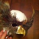 "Owl Mask  (part 1 of ""Man In Strigiform"" costume)"