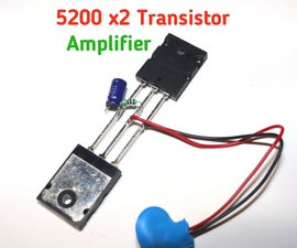5200 Double Transistor Bass Audio Amplifier