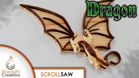 Dragon Scroll Saw Wood Art