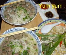 Pho Bo Vien (Vietnamese Meatballs Soup My Way)