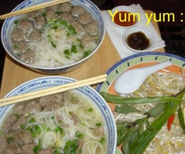 Pho Bo Vien (Vietnamese Meatballs Soup My Way)