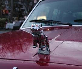 Adding Led eyes to the mack bulldog hood ornament