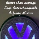 Infinity Mirror with Interchangeable Logo