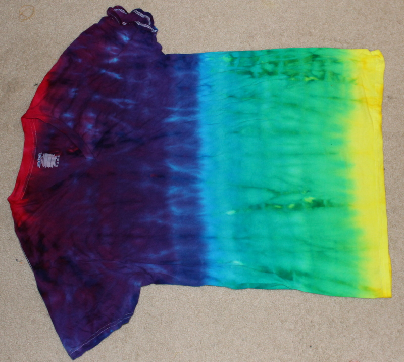 Picture of Ombre Dyed Rainbow T-Shirt