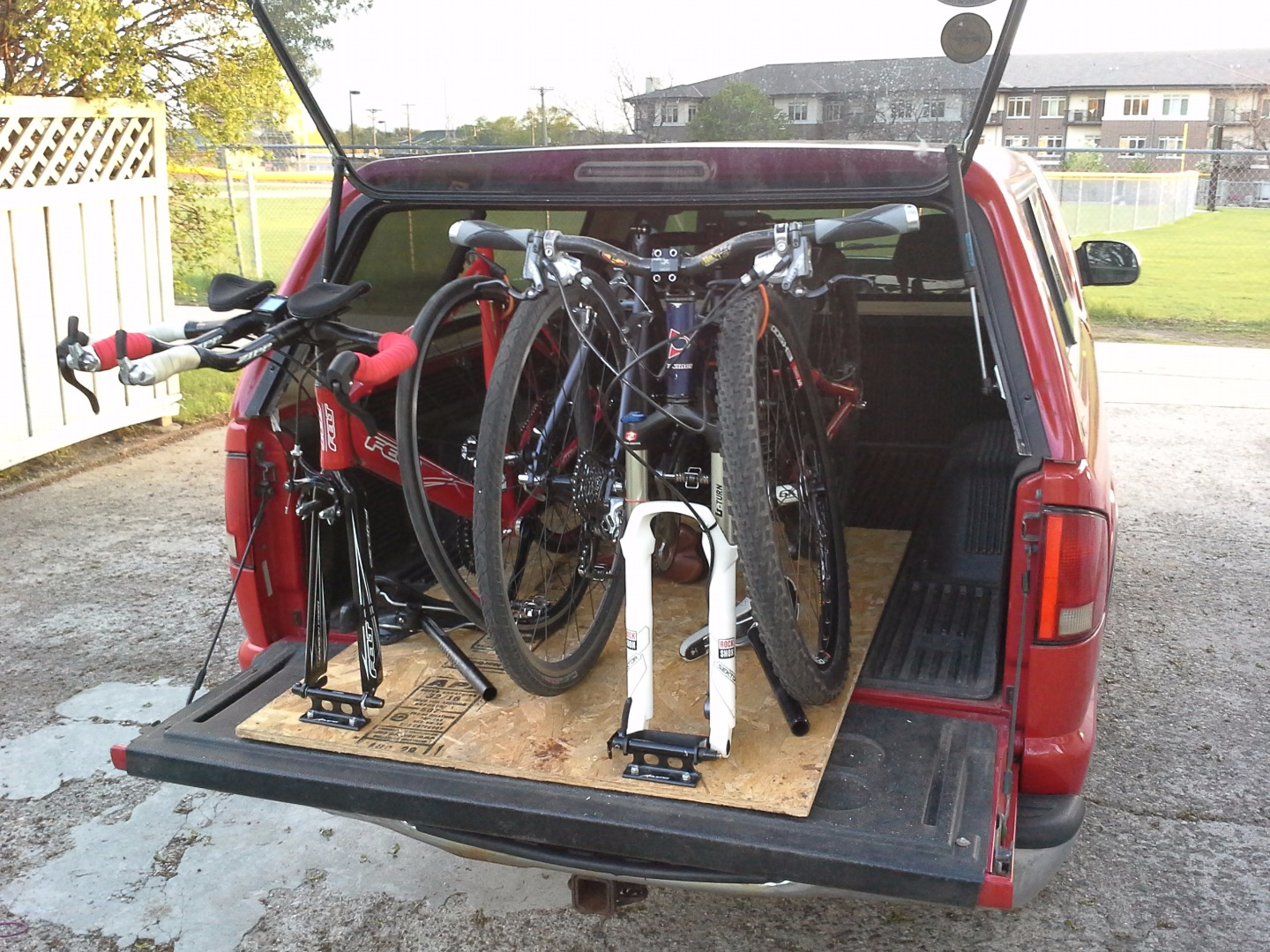 Picture of Simple & Adjustable Truck Bed Bike Rack