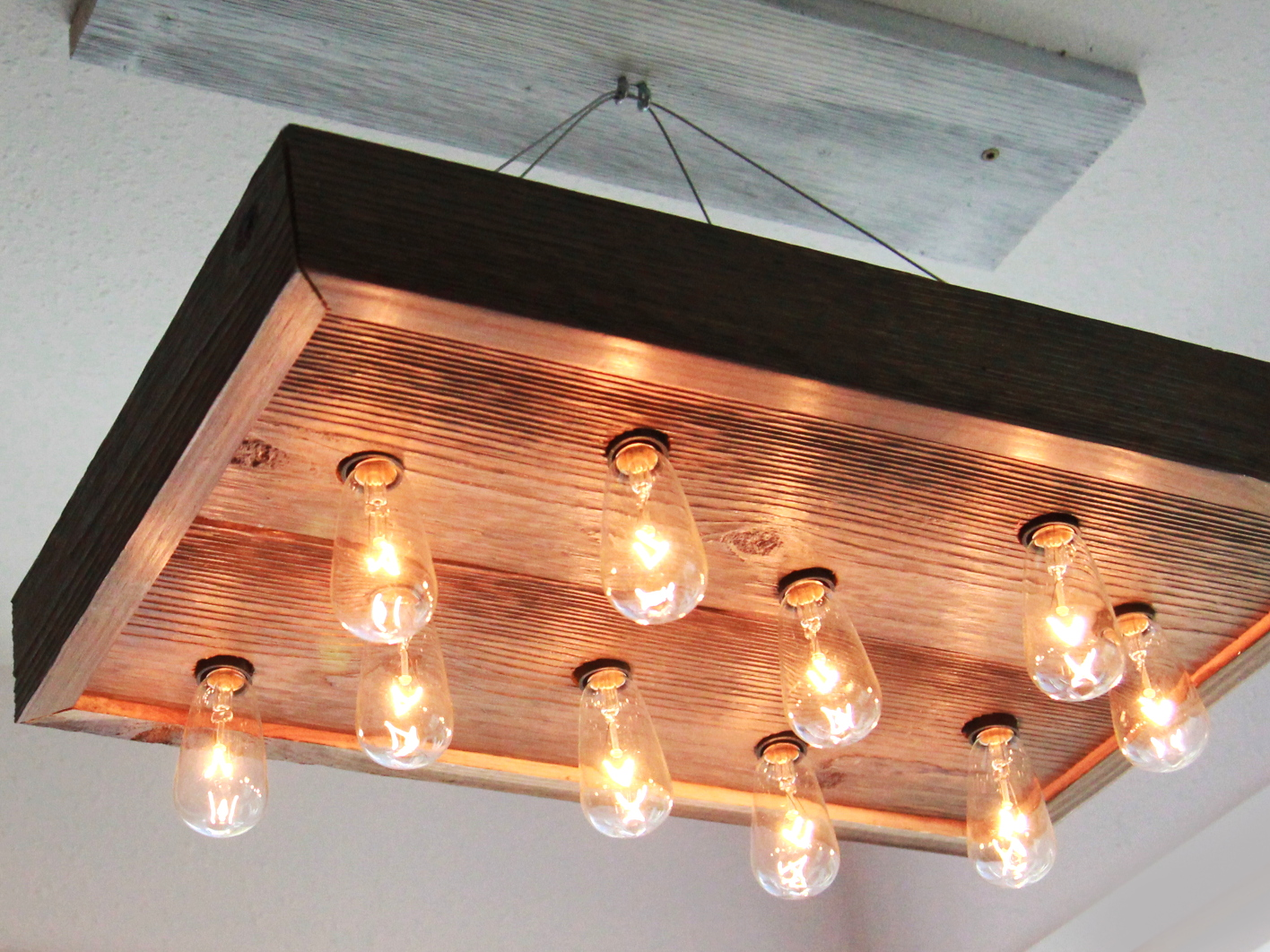 Picture of DIY String Light Chandelier for $40