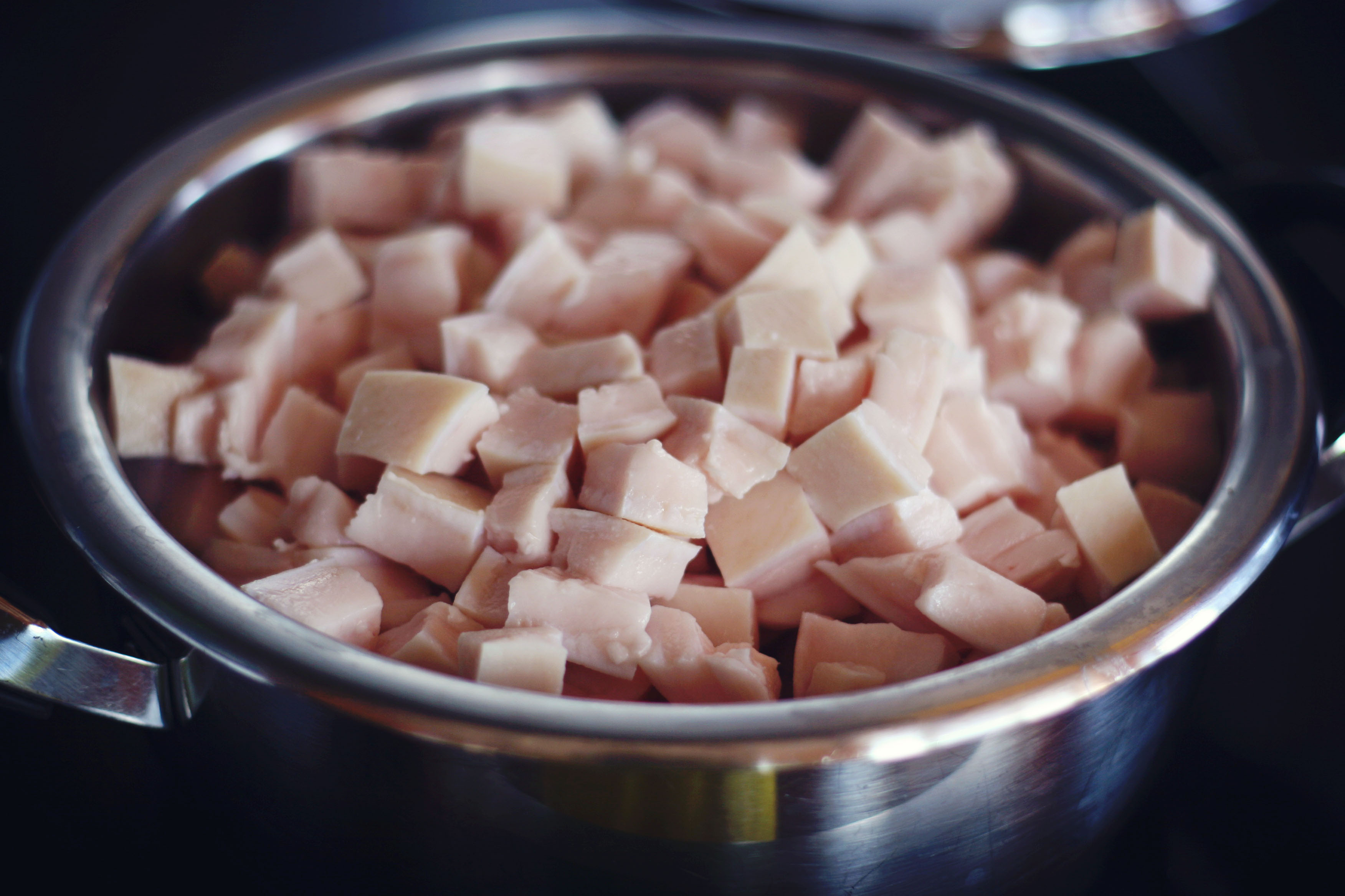 Picture of Step One: Obtain Your Pork Fat of Choice, and Cut Into Small Cubes