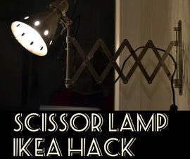 Scissor Lamp Ikea Hack