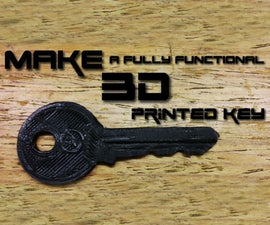 How to make a 3D printed key(FULL TUTORIAL)