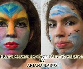Duran Duran Rio Face Paint 2 Versions