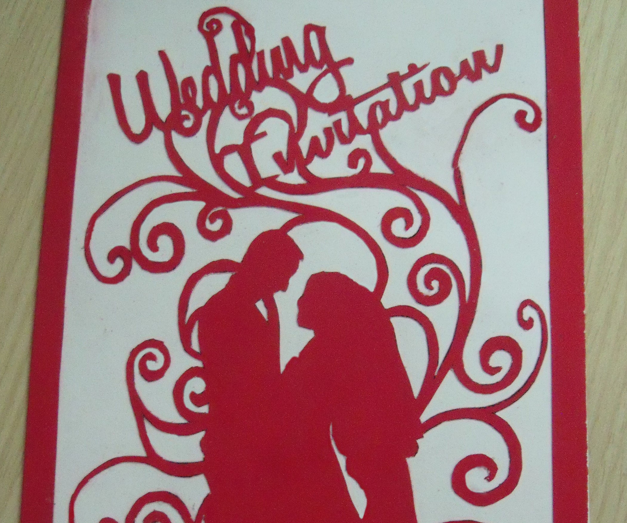 Cut Out Wedding Invitation (ready to Cut Template): 5 Steps (with ...