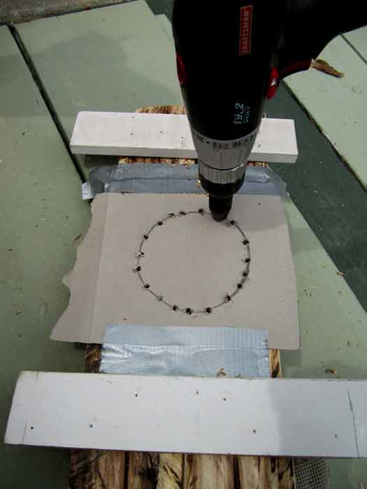 Picture of Feet: Drill Along the Template (7 Min)