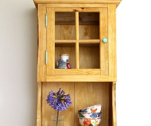 Wall Cabinet With Glue and Joinery