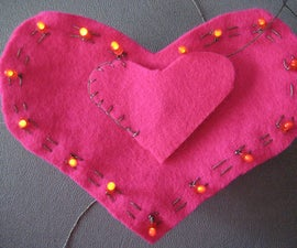 LED Heart Ornament