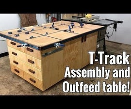 T-Track Assembly Table/Outfeed Table