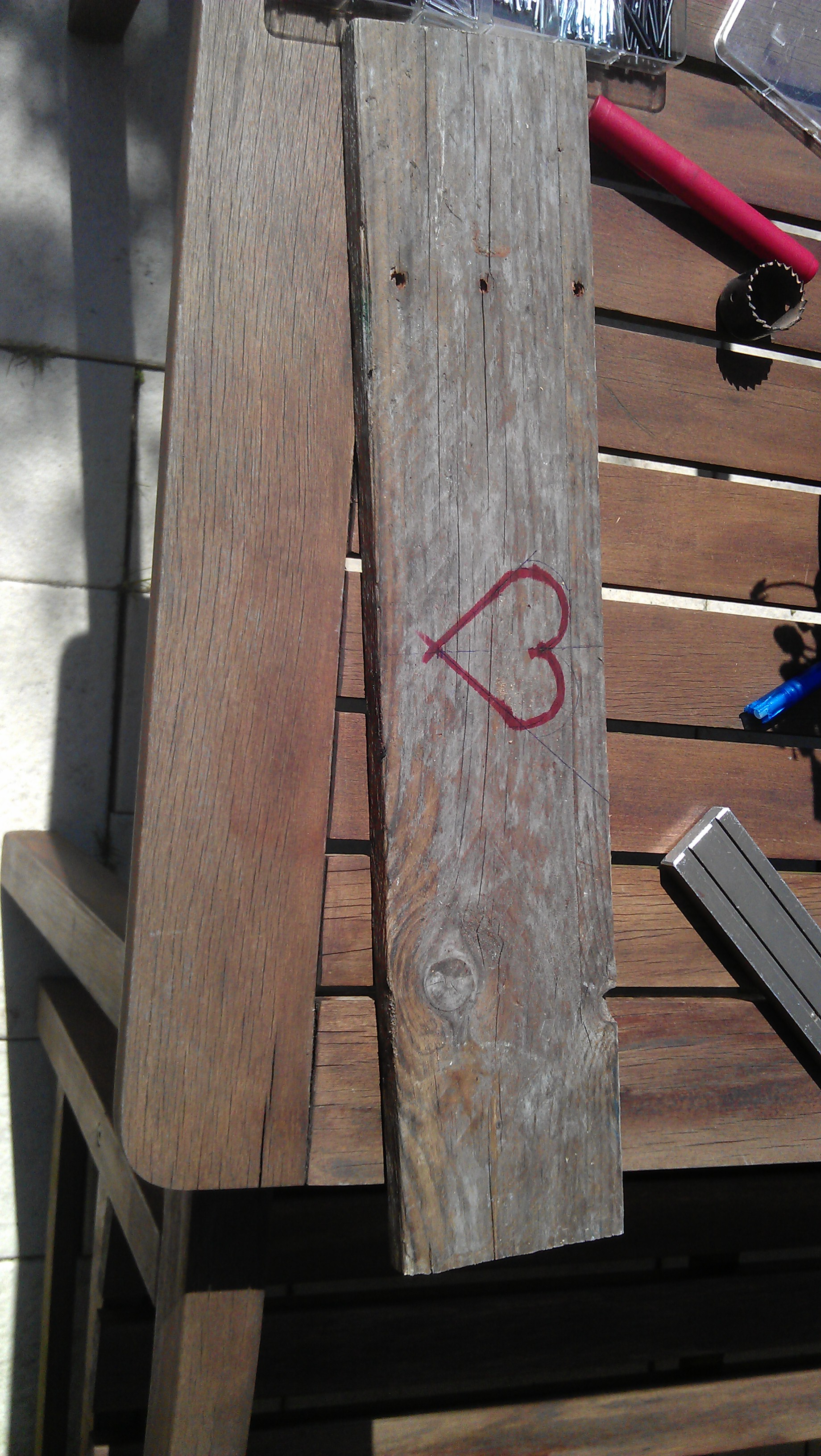 Picture of Making the Heart-shaped Hole (Optional)