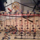 hanging roller coaster station