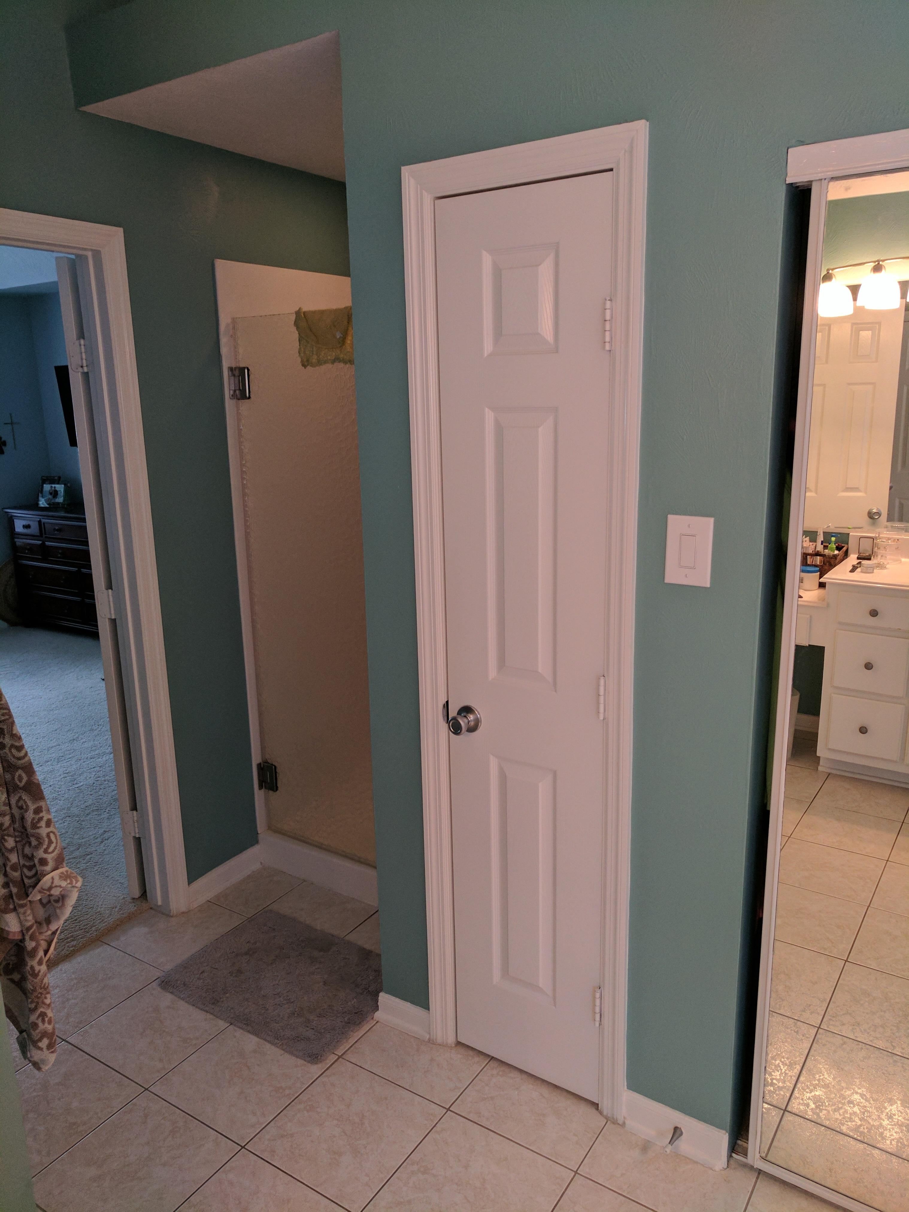 Picture of Upgrade Small Linen Closet in Bathroom to Include Hamper