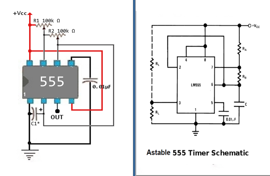 Picture of Astable 555 Timer