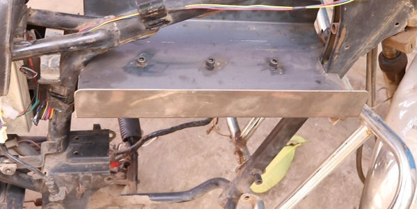 Taking a Donor Bike and Modifying Its Frame to Hold Batteries