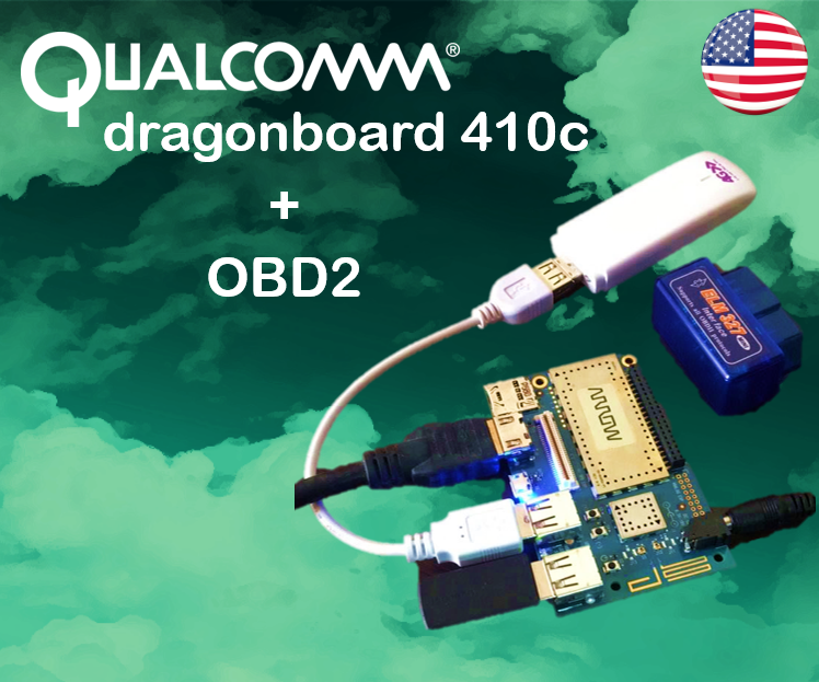 Picture of DragonBoard and OBD2