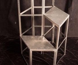 Hexagonal Stepped Aluminum Stool