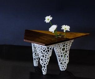 Voronoi Legged Walnut Vase