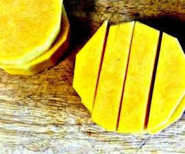 Chopping a butternut squash