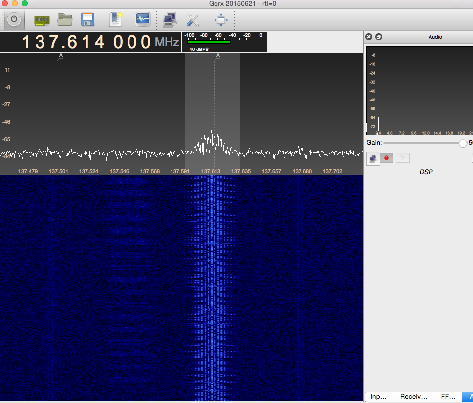 Picture of GQRX - Recording the Transmission