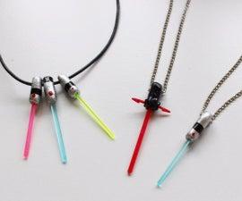 Lightsaber Necklace Pendants