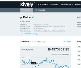 pcDuino as Networked Device to feed data to Xively (Internet of Things)