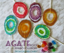 Agate Rock Lollipops from Crushed Candy -- Simple and Easy!