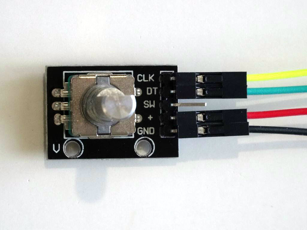 Picture of Connect the Rotary Encoder to the Arduino