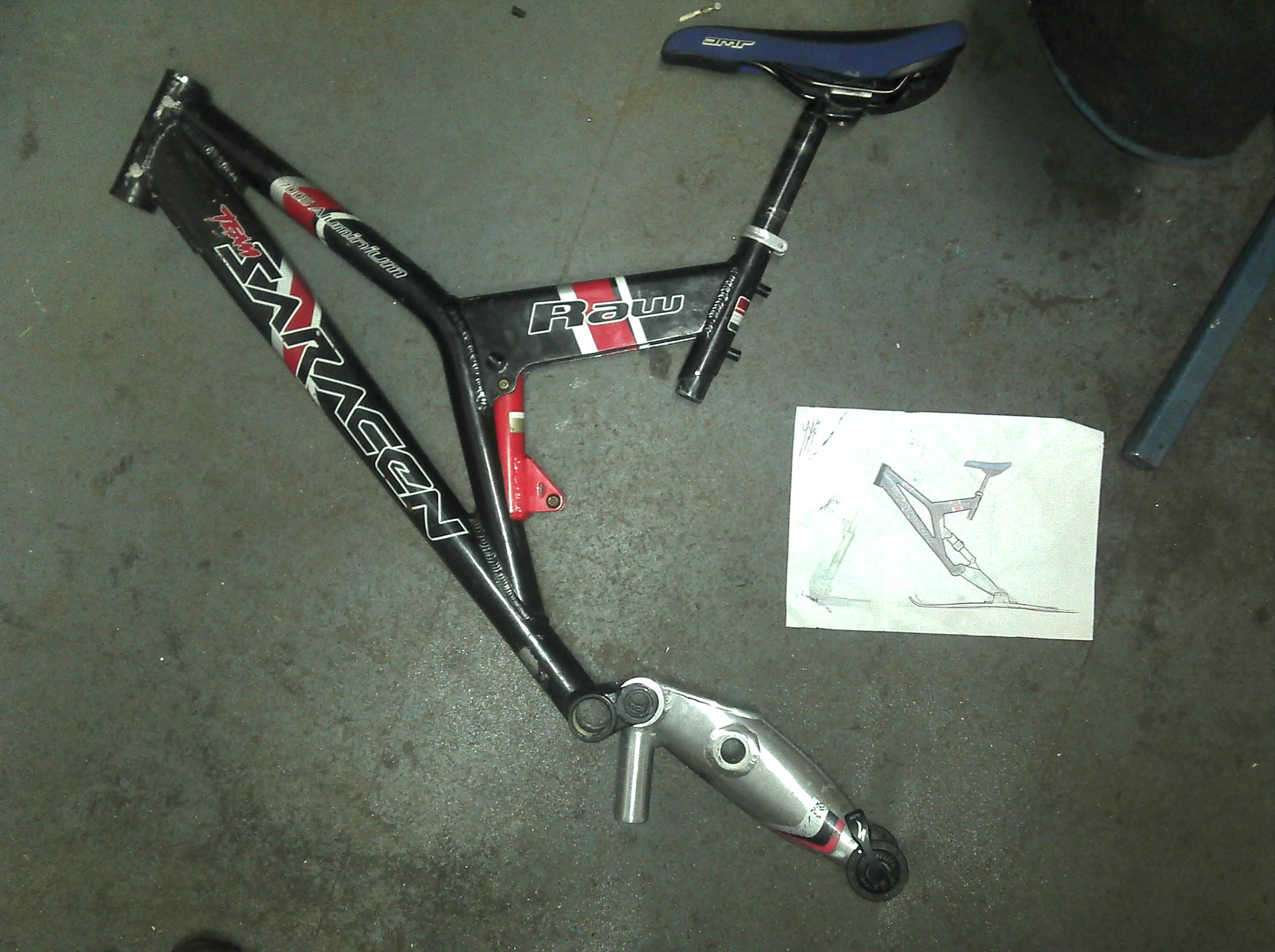 Picture of Shock Mount Positioning, and Swing Arm