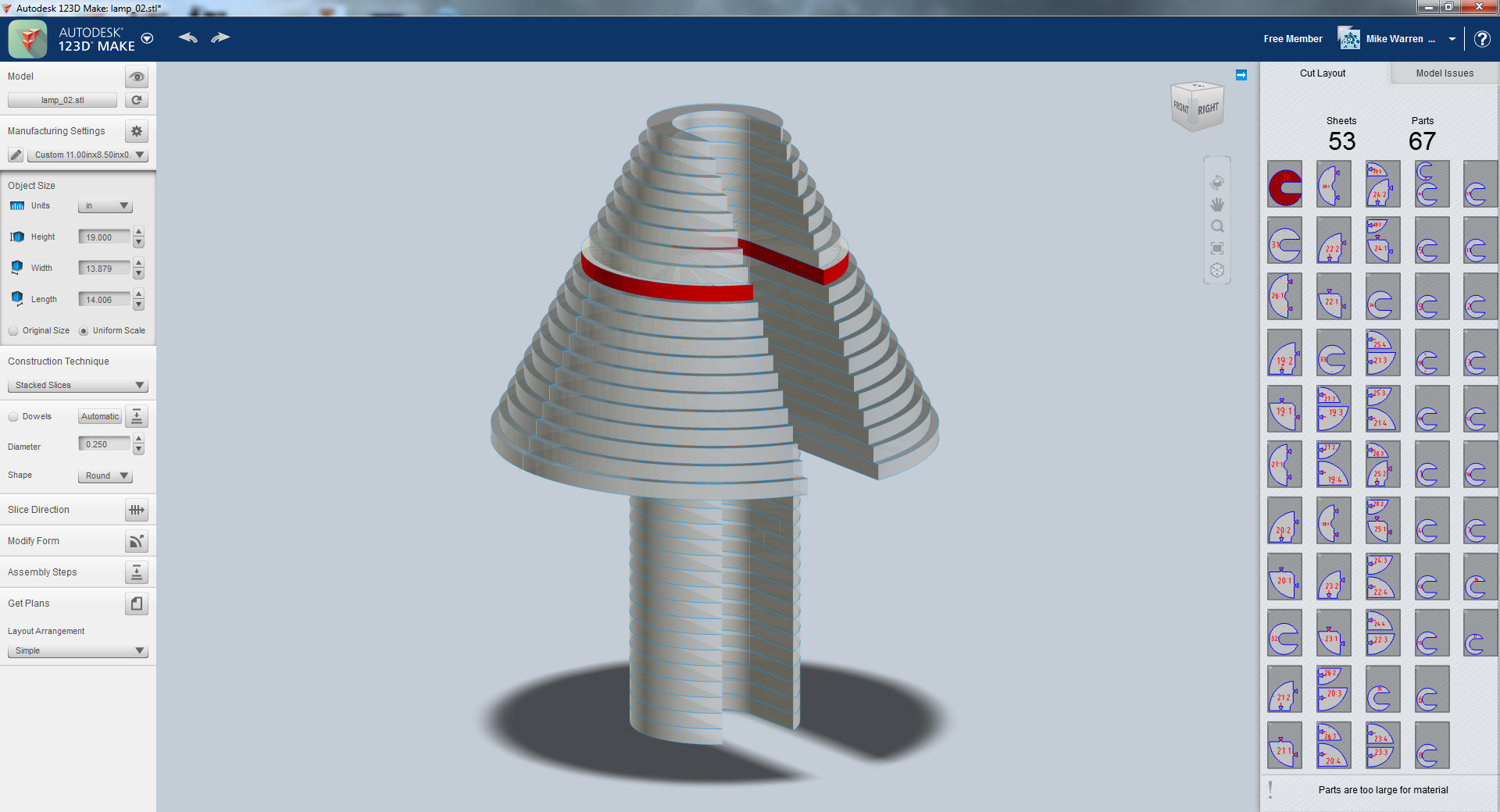Picture of 123D Make - Get Plans (and Errors)
