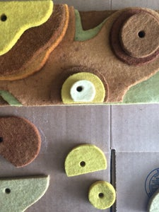 Dyeing Industrial Felt With Foraged Plants