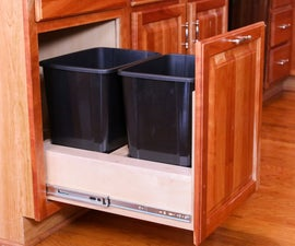 DIY Pull Out Trash Cabinet