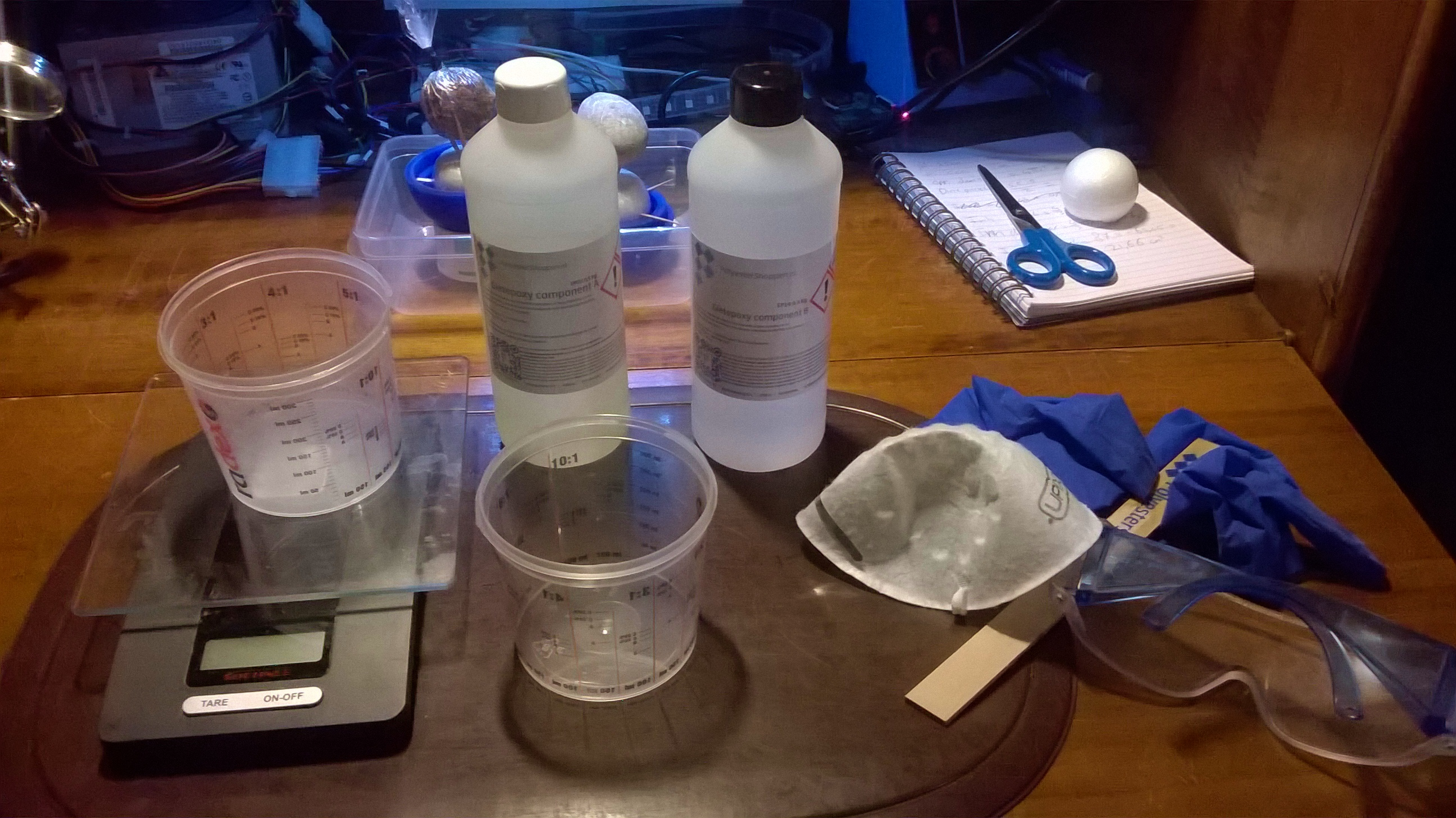 Picture of Mixing the Resin
