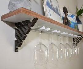 DIY Wine Glass Shelf (or Upgrade Existing Shelf)