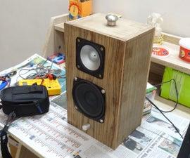 Wooden Bookshelf Speaker With Bluetooth