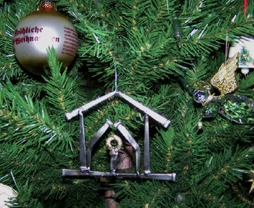 Welded Nail Christmas Tree Ornament