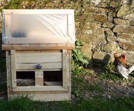 Home-made Hen-Heated Seed Propagator - Alternative Henergy. Mini-serre chauff�e � la volaille