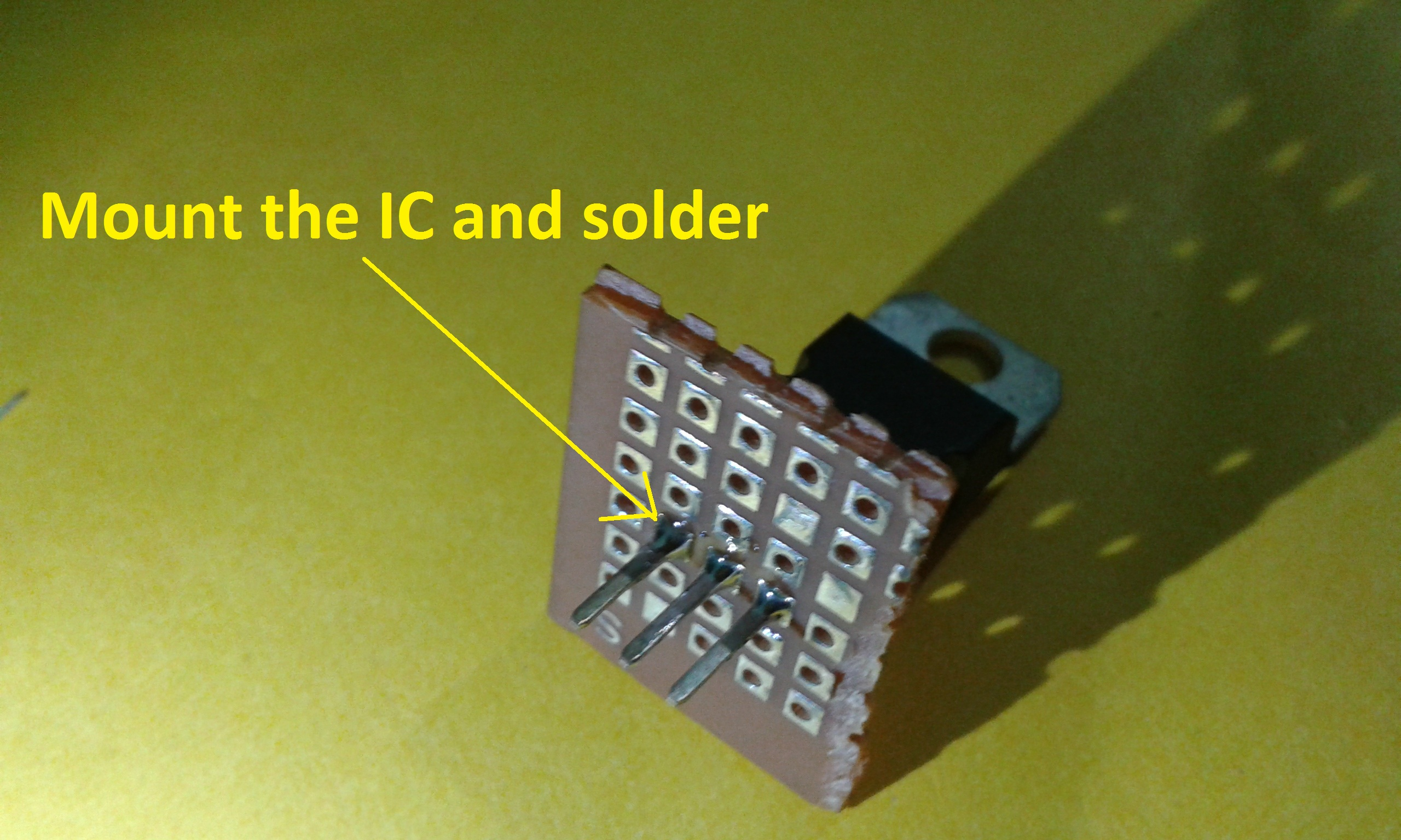Picture of Cut the PCB and Solder the Components
