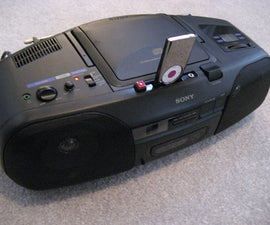 PLAY AND RECHARGE IPOD USING OLD BOOMBOX - Hints and tips